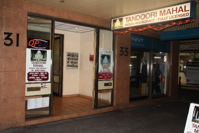 Tandoori Mahal Indian Restaurant Hindley Street Adelaide