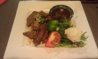 Beef with Japanese BBQ sauce Wasai Japanese Kitchen Adelaide